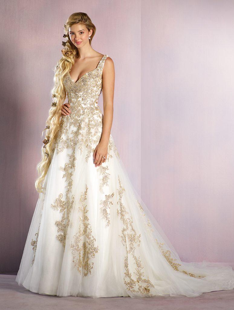 Erfreut Gold Und Elfenbein Brautkleid Galerie - Hochzeit Kleid Stile ...