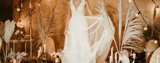 Boho, Hippie, Vintage Brautkleid
